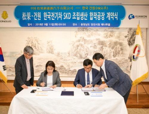중국 송과기차, 당진에 합작공장 설립