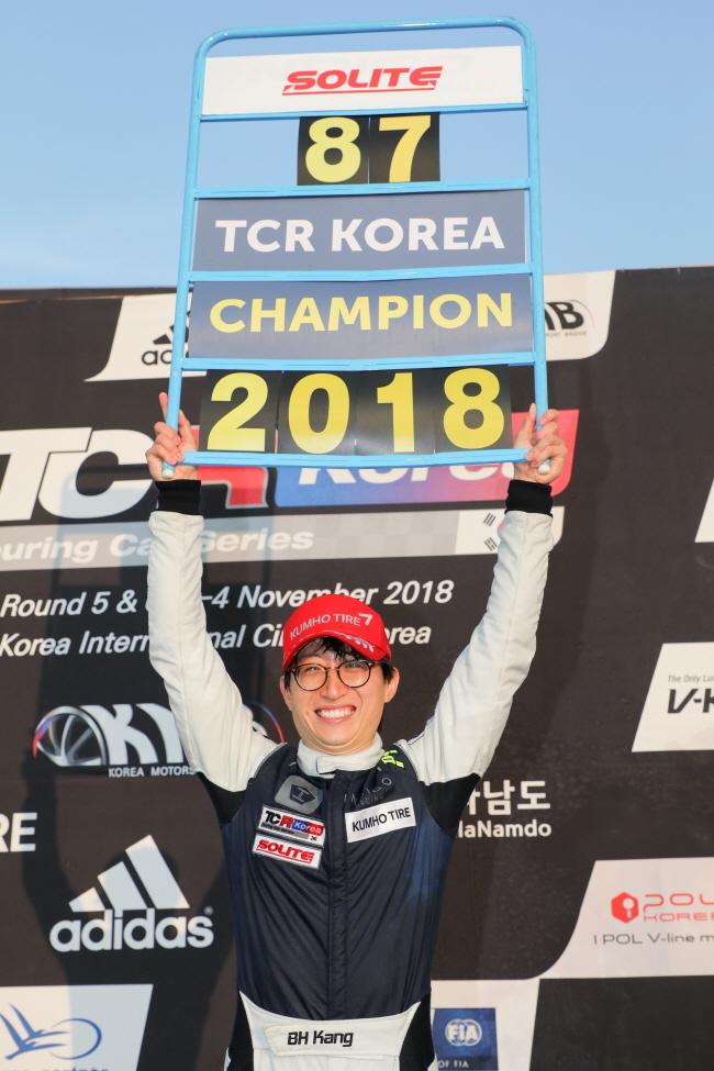 2018 TCR 코리아, 초대 챔피언 인디고 레이싱 강병휘 선수