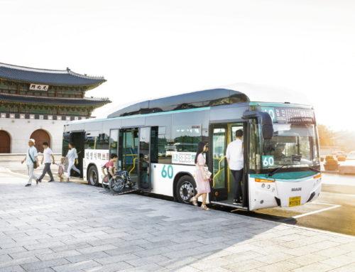 만트럭버스, 대전시에 저상버스 5대 공급 완료