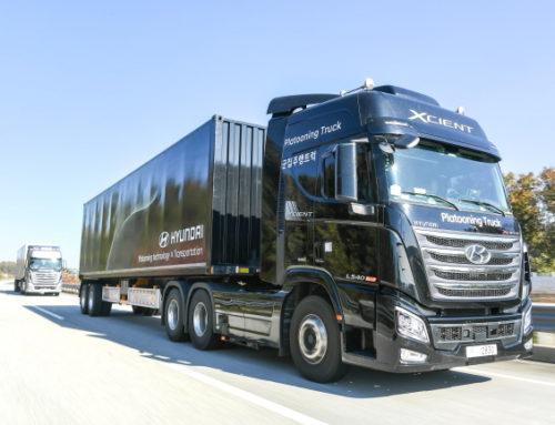 현대차, 대형트럭 고속도로 군집주행 국내 최초 성공