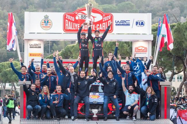 현대차, 2020 WRC 몬테카를로 랠리 드라이버, 제조사 동시 우승