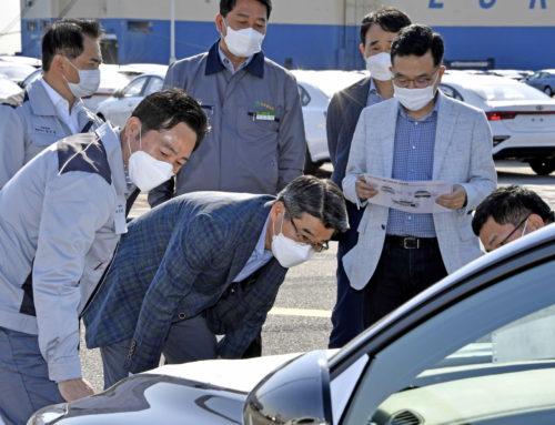 기아차 송호성 사장, 코로나 위기극복 위해 수출물량 직접 품질 점검