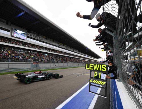 메르세데스 AMG F1 루이스 해밀턴, F1 러시아 그랑프리 1위로 결승선 통과